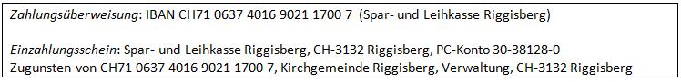 Kirchgemeinde-Konto